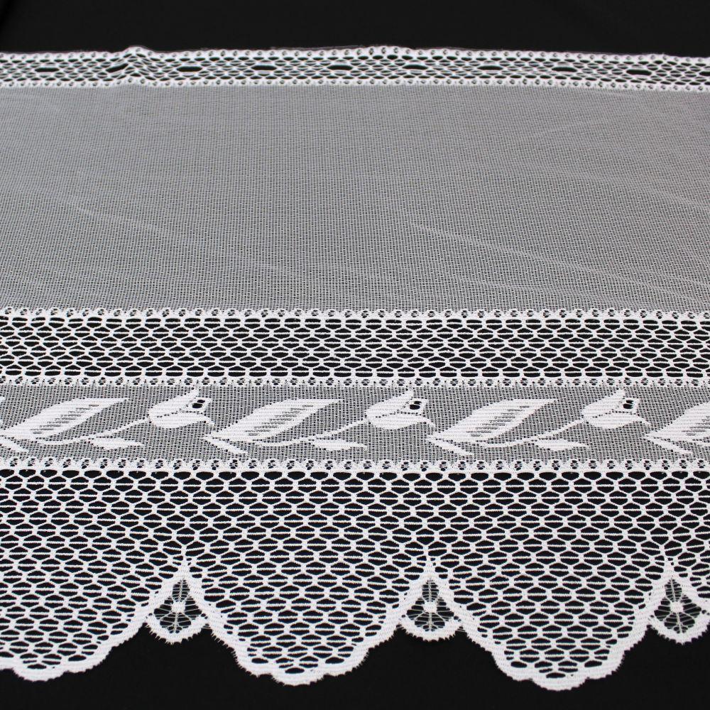 Záclona - výška 80 cm.